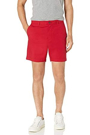 "Amazon Slim-Fit Lightweight Stretch 7"" Short Shorts, Red Microstripe, 40"