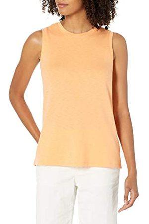 Daily Ritual Cotton Modal Stretch Slub Muscle-Sleeve Swing Tunic Athletic-Shirts, , US XXL