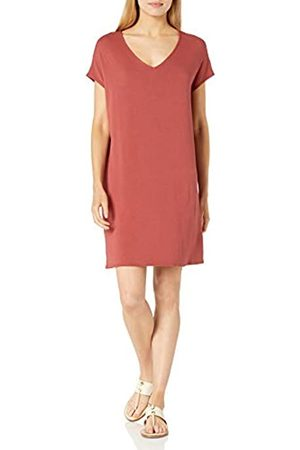 Daily Ritual Supersoft Terry Dolman-Sleeve V-Neck Dress Dresses, Brick, US M