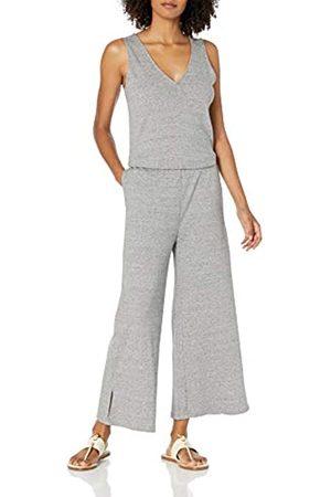 Daily Ritual Donna Camicie - Pima Cotton And Modal Interlock Sleeveless Wide-Leg Jumpsuit Shirts, Heather Grey Spacedye, US XXL