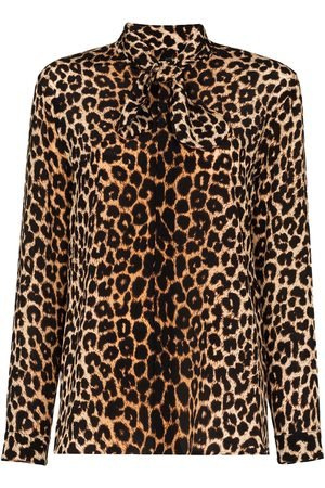 Saint Laurent Blusa leopardata - Di colore
