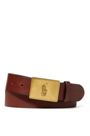 Polo Ralph Lauren Cintura in pelle con placca Pony
