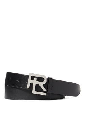 Ralph Lauren Cintura RL in pelle di vacchetta