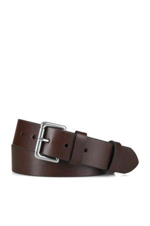 Polo Ralph Lauren Cintura in pelle con fibbia a rullo