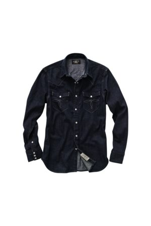 RRL Camicia western in denim Slim-Fit