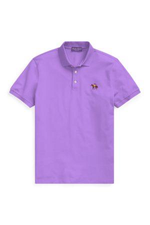 Purple Label Polo in piqué Custom Slim-Fit