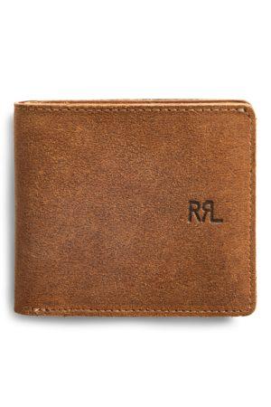 RRL Portafoglio in camoscio ruvido