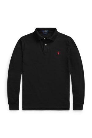 Polo Ralph Lauren Polo in piqué manica lunga Slim-Fit