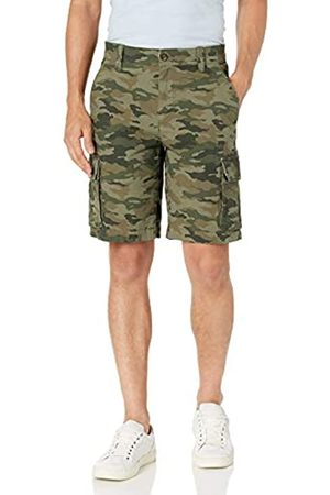 Amazon Lightweight Ripstop Stretch Cargo Short Shorts, Green Camo, 32