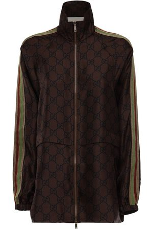Gucci Giacca In Twill Di Seta Gg Supreme
