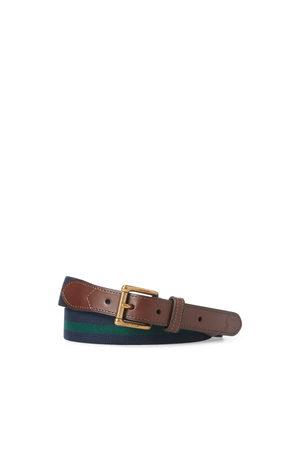 Polo Ralph Lauren Cintura stretch con finiture in pelle