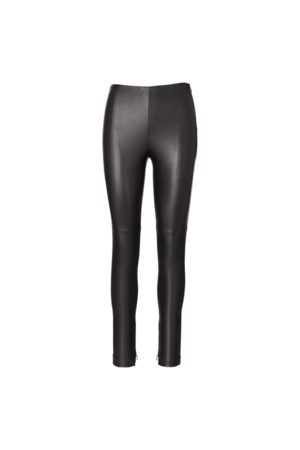 Ralph Lauren Pantaloni Eleanora in pelle stretch