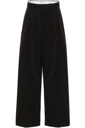 Bottega Veneta Donna Eleganti - Pantaloni a gamba larga in lana