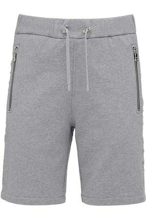 Balmain Shorts In Jersey Di Cotone Con Logo