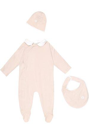 Fendi Neonati Pagliaccetti - Baby - Tutina, berretto e bavaglino in cotone