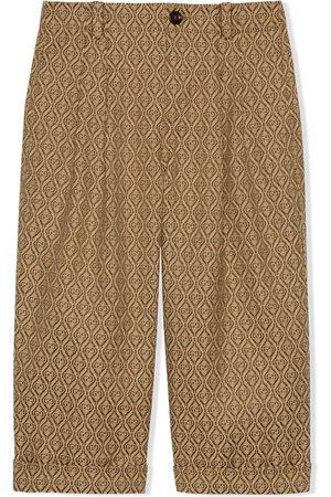 Gucci Pantaloni con logo GG jacquard - Color carne