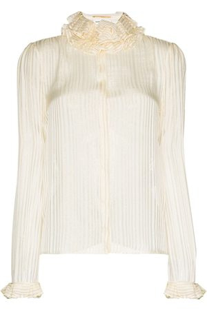 Saint Laurent Donna Bluse - Blusa a righe - Color carne