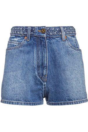 VALENTINO Shorts In Di Cotone Con Logo