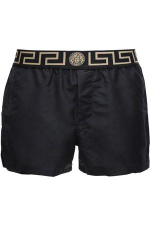 VERSACE Uomo Costumi da bagno - Shorts Mare In Nylon Con Logo