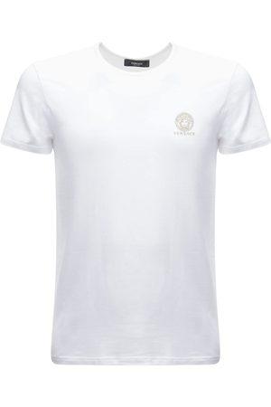 VERSACE T-shirt In Cotone Stretch Con Logo