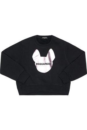 Dsquared2 Felpa In Cotone Con Stampa Logo