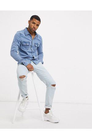 Liquor N Poker Camicia di jeans attillata