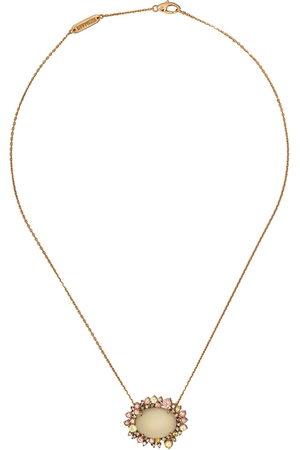 Brumani Collana con pendente in 18kt e diamanti - Rose gold and green gemstone