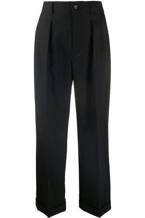 Saint Laurent Donna Eleganti - Pantaloni sartoriali crop