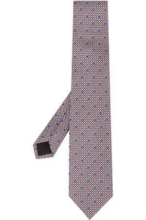 Salvatore Ferragamo Cravatta Gancini con stampa - Di colore