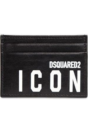 Dsquared2 Porta Carte Di Credito In Pelle Con Stampa