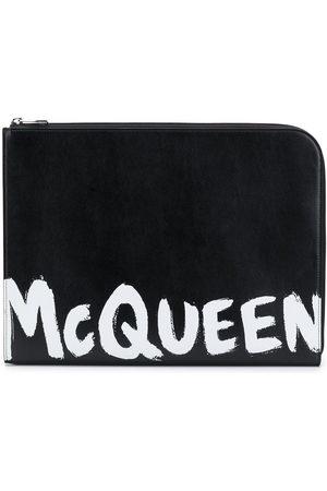 Alexander McQueen Portadocumenti con stampa