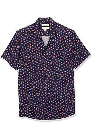 Goodthreads Camicia Hawaiana Slim Fit a Maniche Corte con Colletto da Campeggio Athletic-Shirts, Colore: Scuro, US XXL