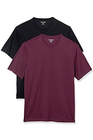 Amazon Set Composto da 2 Magliette a Girocollo a Maniche Corte Fashion-t-Shirts, Borgogna/ , US XXL