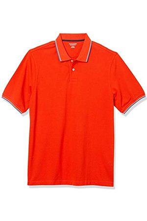 Amazon Polo in Cotone piqué con Punta Regolare Shirts, Orange/White And Blue Tipped, US