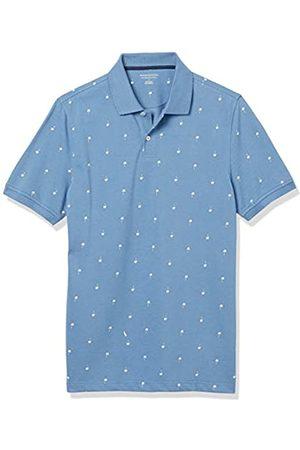 Amazon Polo Aderente in Cotone piqué Shirts, Palmo / , US XXL