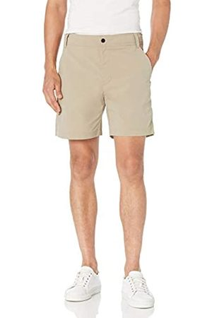 "Amazon Regular-Fit Hybrid Tech 7"" Short Athletic-Shorts, Khaki Chiaro, 38"
