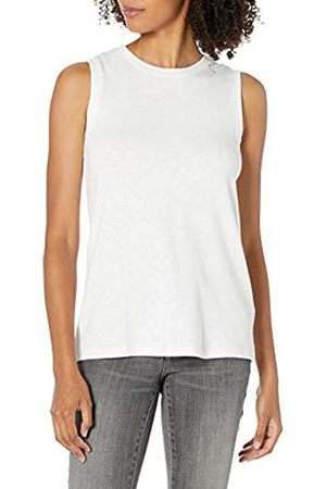 Daily Ritual Cotton Modal Stretch Slub Muscle-Sleeve Swing Tunic Shirts, , US