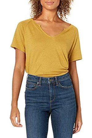 Goodthreads Lino Modal Jersey Manica Corta Maglia Slit-Neck Fashion-t-Shirts, Tabacco Secco, XL