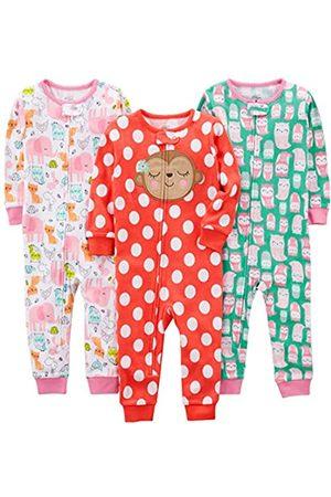 Simple Joys by Carter's 3-Pack Snug Fit Footless Cotton Pajamas Pajama Set, Owl/Monkey/Animals, 18 Months
