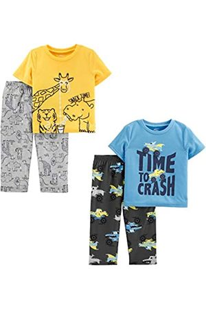 Simple Joys by Carter's Bambini Set - 4-Piece Pajama Set Sets, Animals Green/Trucks, 5T