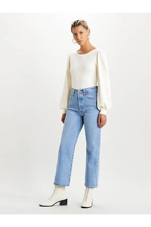 Levi's Ribcage Straight Ankle Jeans Neutral / Tango Gossip