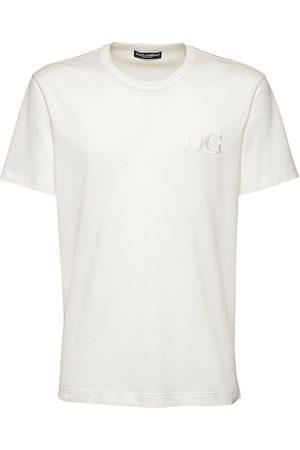 Dolce & Gabbana Uomo T-shirt - T-shirt In Cotone Con Ricamo