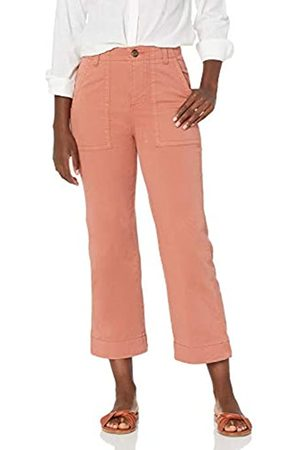Goodthreads Stretch Chino Wide-Leg Military Crop Pant Pants, Terra Cotta, US 10