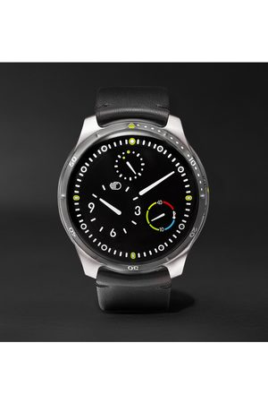 Ressence Uomo Orologi - Type 5 Mechanical 46mm Titanium and Leather Watch, Ref. No. TYPE 5B