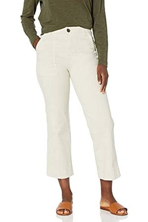 Goodthreads Stretch Chino Wide-Leg Military Crop Pant Pants, Whitecap Grey, US 8