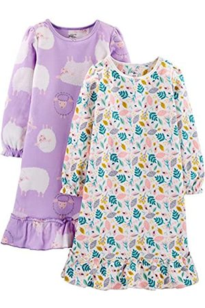 Simple Joys by Carter's 2-Pack Fleece Sleep Gowns Nightgown, Sheep/Floral, 4/5
