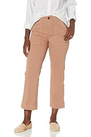Goodthreads Stretch Chino Wide-Leg Military Crop Pant Pants, Clay, US 2