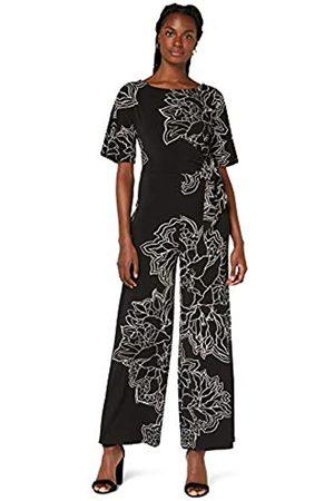 TRUTH & FABLE Marchio Amazon - Tuta da Sera a Manica Corta in Cotone Jersey Donna, , 40, Label: XS