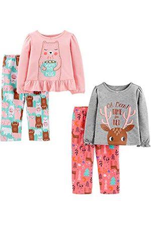 Simple Joys by Carter's 4-Piece Polyester Pajamas Pajama-Sets, Doe/Bear, 5T