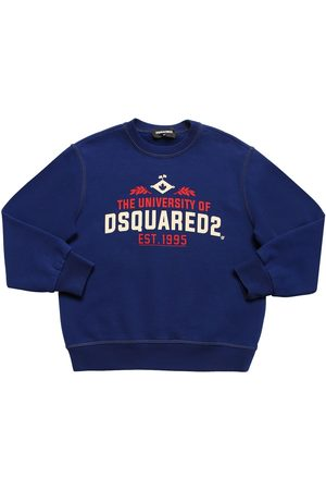 "Dsquared2 Felpa ""university"" In Cotone Con Stampa"